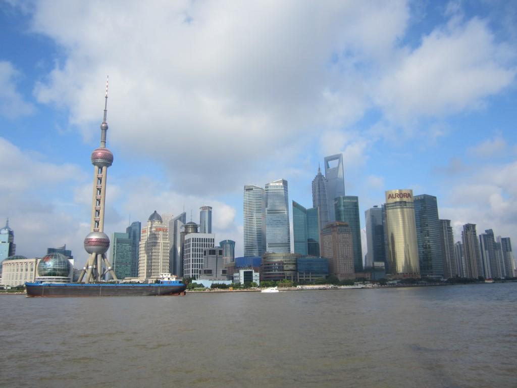 Shangai, en pleno día. Se puede apreciar el ligero abombado en las zonas cercanas a los bordes.